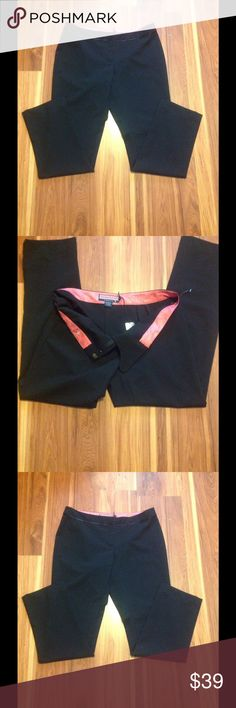 """🆕 ✨Vineyard Vines Black Ankle Tuxedo Pants✨ These vineyard vines black tuxedo pants are a size 6. Approximate measurements are outer seam 36"""" inner 26"""" rise 8"""". It is made with 54% poly 44% wool and 2% spandex. It has tuxedo lace piping around waist and zipper  front with clasp and button. Embroidered  whale on back. Brand new never worn with tags. Vineyard Vines Pants Capris"""