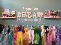 If you can Dream, you can do it - Room Design Dress Up Corner, Dress Up Area, Kids Dress Up, Sister Room, Daughters Room, Dress Up Storage, Toy Rooms, Little Girl Rooms, Kid Spaces