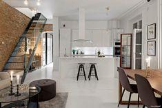Cărămidă expusă și decor scandinav într-un apartament pe 2 niveluri Jurnal de design interior