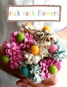 rick rack flowers from Inspired Ideas: autumn 2010 on issuu