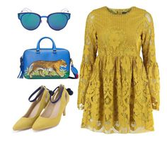"""""""Untitled #1666"""" by christawallace on Polyvore featuring Gucci, Boohoo and Christian Dior"""