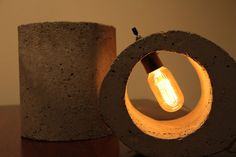 Small and Large Rounds Concrete Lights by Architectural1Framed