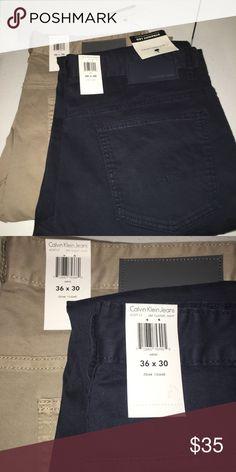 Calvin Klein Jeans Calvin Klein Classic Navy and Khaki set of 2 Calvin Klein Jeans Pants Chinos & Khakis