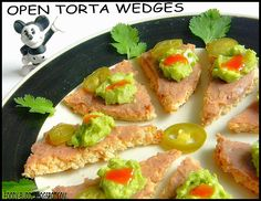 You can make a simple bread into creative and healthy snack for kids and adults. This easy to make, healthy and super nutritious snack can be packed for kids lunch box. This colorful snack is packed with carbs ( from bread) protein ( from Pinto beans) and good fats ( from Avocado ) Try this torta wedges