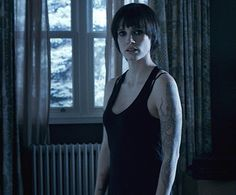 Jessica Chastain in Mama- short black hair