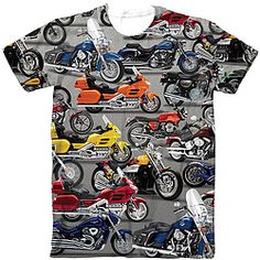 Motorcycle Lovers Sublimated Tee $31.98 Want dat orange one...or yeller. 8-0