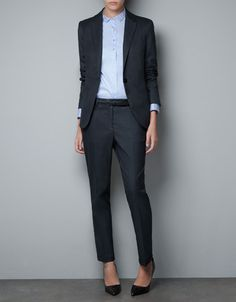 Androgynous business chic