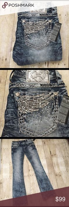Miss Me NWT angel wing 26/33 signature boot Just in Miss me signature boot NWT 26/33 Miss Me Jeans Boot Cut