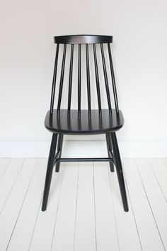 be6a58249e5 Chair Wooden chair with bars. This chair is new but already unpacked and  used as showmodel.