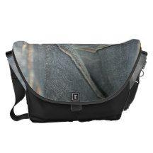 Denim Look - Large Messenger Bag