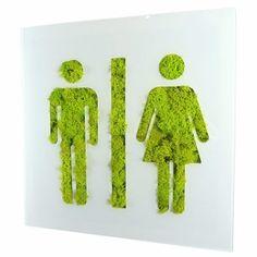 Cadre végétal signalétique WC Homme Femme