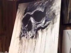 Painting Inspiration, Art Inspo, Skull Painting, Hot Tattoos, Aqua Color, Mixed Media Collage, Skull Art, Art Drawings, Sketches