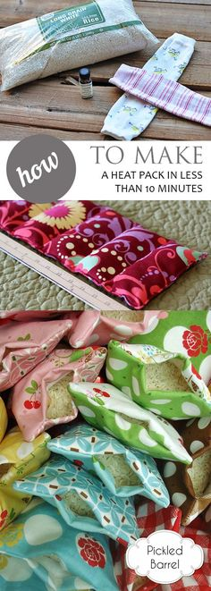 How to Make a Heat Pack in Less Than 10 Minutes – Pickled Barrel - Easy DIY Crafts + Activities - I use heat packs for all kinds of ailments, from menstrual cramps to minor injuries and muscle ache - Diy Heating Pad, Rice Heating Pads, Quick And Easy Crafts, Crafts To Make, Easy Diy, Diy Sewing Projects, Sewing Crafts, Sewing Diy, Upcycled Crafts