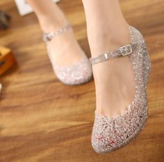 Details about 2017 Womens Sandals High Heels Girls Wedge Glass Jelly Shoes Ankle Strap Sandals – Wedding Shoes Wedge Wedding Shoes, Comfy Wedding Shoes, Bridal Shoes Wedges, Mode Shoes, Women's Shoes, Shoes Style, Buy Shoes, Dance Shoes, Girls Heels