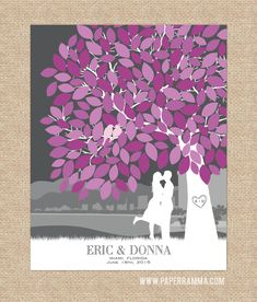 Wedding Guestbook Signature Tree // Personalized by PaperRamma, $52.00