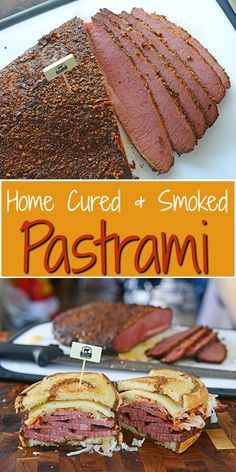 I Smoke Homemade Pastrami Home Cured and Smoked Pastrami - You'll never have a better Reuben than making your own pastrami at home.Home Cured and Smoked Pastrami - You'll never have a better Reuben than making your own pastrami at home. Smoked Pastrami Recipe, Homemade Pastrami, Smoked Meat Recipes, Smoked Beef, Sausage Recipes, Venison Pastrami Recipe, Pastrami Meat, Making Pastrami, Smoked Corned Beef Brisket