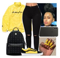 """""""Untitled #28"""" by aaliyah-marie1 ❤ liked on Polyvore featuring A BATHING APE, Apple, MCM and Vans"""