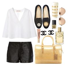 """""""Walked in Dripping in Gold"""" by bellaeve ❤ liked on Polyvore"""