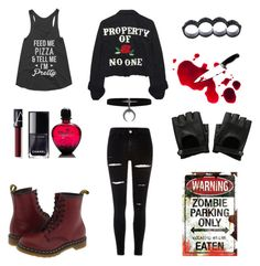 """""""Join the zombie hunt"""" by vstengach on Polyvore featuring Dsquared2, Dr. Martens, NARS Cosmetics, Paco Rabanne and High Heels Suicide"""