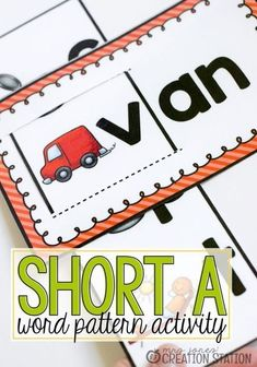 Free printable short A word pattern is a great activity for kids! CVC, also known as consonant vowel consonant, is a word pattern that many students first begin to learn reading. CVC word patterns are taught in kindergarten and first grade. These free printable short a vowel pull and reads are great to help teach your students CVC words. Grab the free printable and get started today! #literacy #free #printable #kindergarten #firstgrade #cvcwords #reading Toddler Learning Activities, Phonics Activities, Reading Activities, Teaching Phonics, Preschool Phonics, Help Teaching, Teaching Reading, Play To Learn, Learn To Read