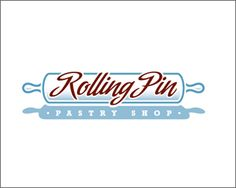 Pastry logo design: Rolling Pin pastry shop