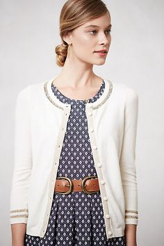 Anthropologie Emanation Cardigan paired with this dress makes a very ladylike outfit.