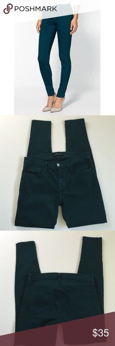 J Brand Super Skinny jeans, size 28 NWOT J Brand a super Skinny Jeans in Aegean Blue, size 28. Color is a greenish blue, Rise is 8.5 and inseam is 30. Made from 98% cotton and 2% elastane. NWOT, please ask if you have any questions. Jeans Skinny
