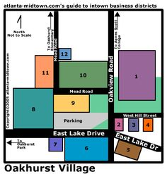 Visit Oakhurst Village business district for pizza, pubs, Mexican, the Oakhurst market, sweets at the bakery (and sweets for your dog at the dog bakery), etc.