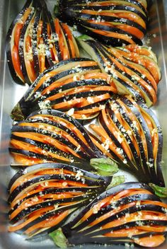 Eggplant fans. Got to try this one. Roasted with tomatoes.