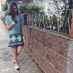 Vestido fresquinho e alpargatas para seu dia ficar leve #lojaamei #alpargata #vestido #muitoamor #sejaleve