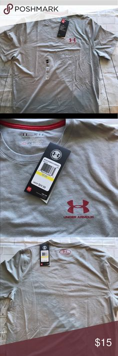 NWT MEN'S UNDER ARMOUR HEAT GEAR ATHLETIC TEE NWT MEN'S UNDER ARMOUR HEAT GEAR ATHLETIC TEE  SIZE: MEDIUM  COLOR: Grey  Original Price $25 Under Armour Shirts Tees - Short Sleeve