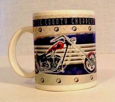 Motorcycle Coffee Mug Cup Orange County Choppers 2005 Red Bike