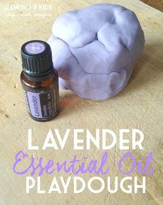 Lavender Essential Oil Playdough