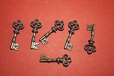 6 pcs Antique Bronze Charms Key Pendant Beads by sedonastonesllc, $0.99