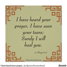I have heard your prayers Bible Quote Prayer