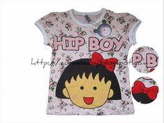 Chibi Maruko Chan Hip Boy T-Shirt  Item Code: TS00006S Size: 8, 9, 10, 11, 12 Age: 2, 3, 4, 5, 6  Price: $10