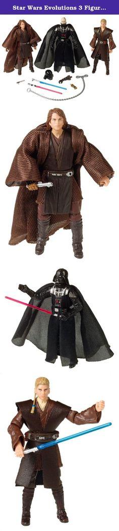 Star Wars Evolutions 3 Figure Anakin Skywalker to Darth Vader Set. .