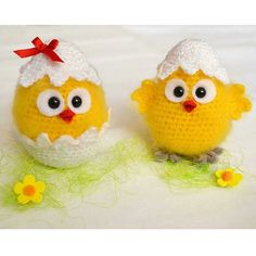 Chicken crochet pattern Amigurumi toy Chick in eggshell Hatched little chicks Chirp the chicken Farmhouse decoration Easter chicken pattern Easter Crochet Patterns, Crochet Patterns Amigurumi, Crochet Toys, Arm Knitting, Double Knitting, Chicken Pattern, Crochet Chicken, Easter Toys, Easter Projects