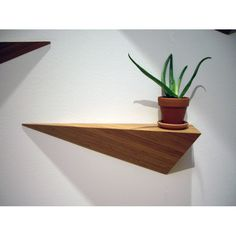 What makes the Angle Shelf unique isn't necessarily what you choose to display on top, but instead what lies beneath: a geometric 3D form, sleek, structural and stuck to the wall. The bamboo unit is finished with 100% natural Tung oil, made in the USA, and available pointing either left or right.