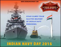 #Indian #Navy Day 2016 #Goan #Games Team salutes bravery of #Indian #Navy personnel Visit Us : http://goangamesmoney.com/