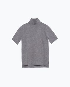 Image 8 of FUNNEL COLLAR TOP from Zara