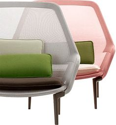 Ronan and Erwan Bouroullec, Slow Chair, for Vitra, 2007 Sofa Chair, Armchair, Art Deco Paris, Modern Furniture, Furniture Design, Funky Chairs, Take A Seat, Chair Design, Outdoor Chairs
