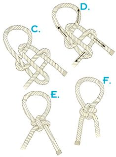Japanese success knot CDEF