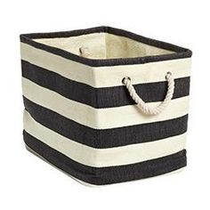toy storage  Decor/Accessories - The Container Store > Rugby Stripe Bins - rugby, striped, basket