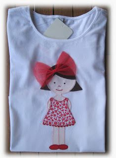 I love the image Applique Patterns, Applique Designs, Quilting Designs, Shirt Embroidery, Hand Embroidery Designs, Sewing For Kids, Baby Sewing, Shirts For Girls, Kids Shirts