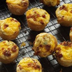 Bacon-Sausage Quiche Tarts Recipe from Taste of Home