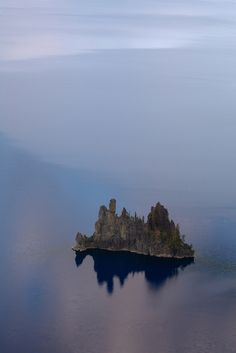The ghostly Phantom Ship, Crater Lake National Park, Oregon