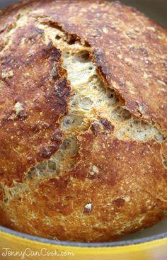 Multigrain No Knead Bread Recipe From Jenny Jones Jennycancook Com Anyone Can No Knead Breadwhole Wheat