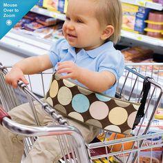 Ah ha!  No more broken dirty straps & buckles in shopping carts.
