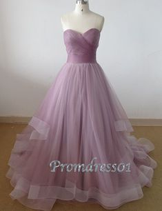 2015 elegant sweetheart strapless lilac organza long prom dress for tens, ball gown, wedding dress, evening dress #promdress